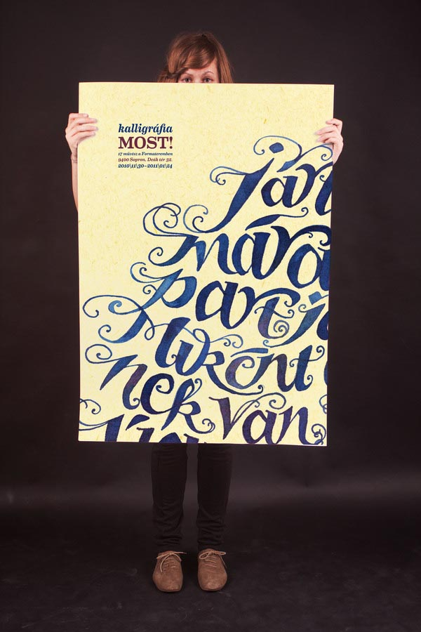 Poems in Calligraphy - typography artwork by Boglárka Nádi