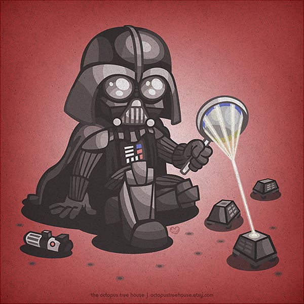 Star Wars Kid Darth Vader Illustration by Octopus Treehouse