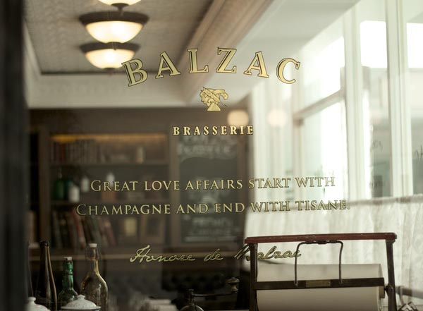 Balzac Brasserie - Identity Design by Bravo Company