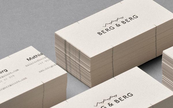 Berg & Berg Idenitity - Business Cards - Design by Heydays
