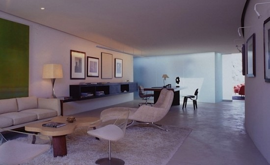 Spacious living room with modern interior design.