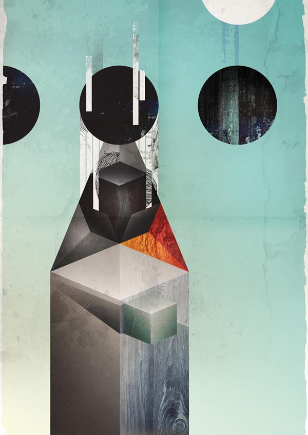 Coherence Geometric Poster Illustration by Kasper Pyndt
