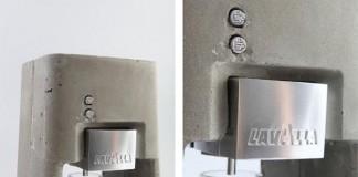 Concrete Case - Espresso Machine by Shmuel Linski