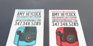 Custom Letterpress Business Cards by PRINT and GRAIN