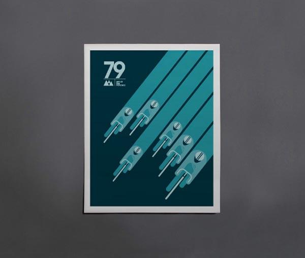 Cycling Poster by Caleb Kozlowski