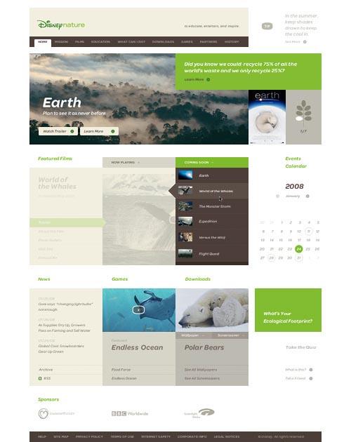 Disney Nature Website - Web Design by Andy Gugel