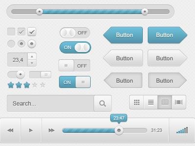 20 free psd ui kits for web designers