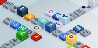 Isometric 3D Social Icons Set