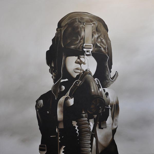 Michael Peck - Fighter Pilot (Oil on Linen)