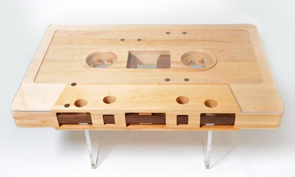 Creative furniture design mixtape table by jeff skierka for Table design for project