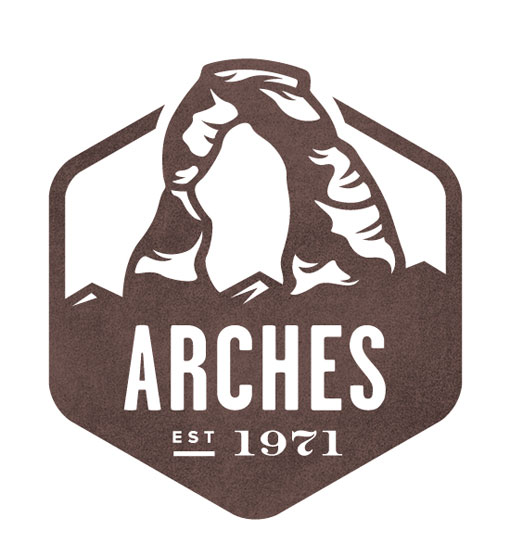 Arches - National Park Stamp Icon