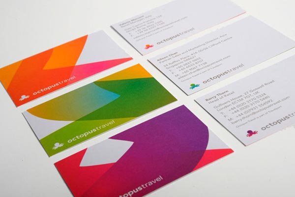 Colorful identity design by saffron brand consultants octopus travel identity business cards design by saffron brand consultants reheart Gallery