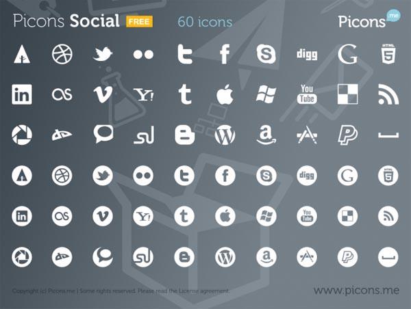 Picons Social 60 icons