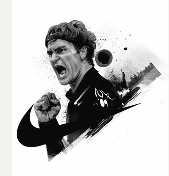 Roger Federer - Nike Sportswear Illustration