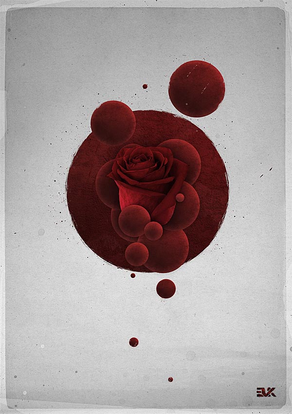 Roses Artwork By Maxime Quoilin