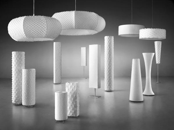 Handmade fabric lighting design by suzusan luminaires - Interior design lighting companies ...
