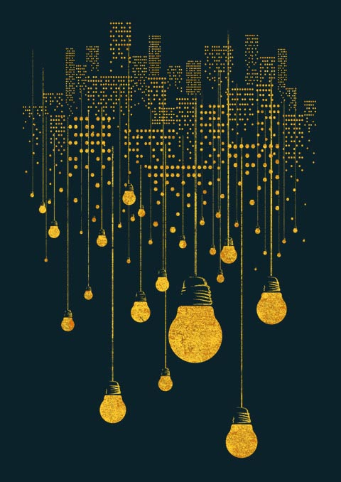 The Hanging City - Illustration by Tang Yau Hoong