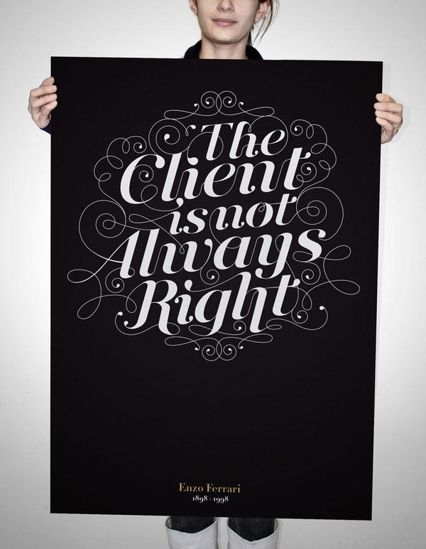 Typographic Poster by Nicolas Baillargeon