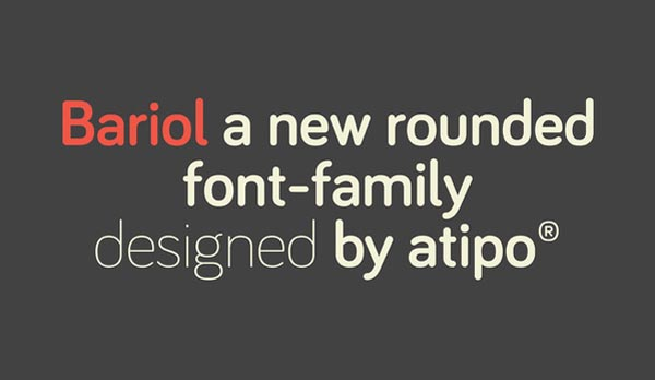 bariol font by atipo