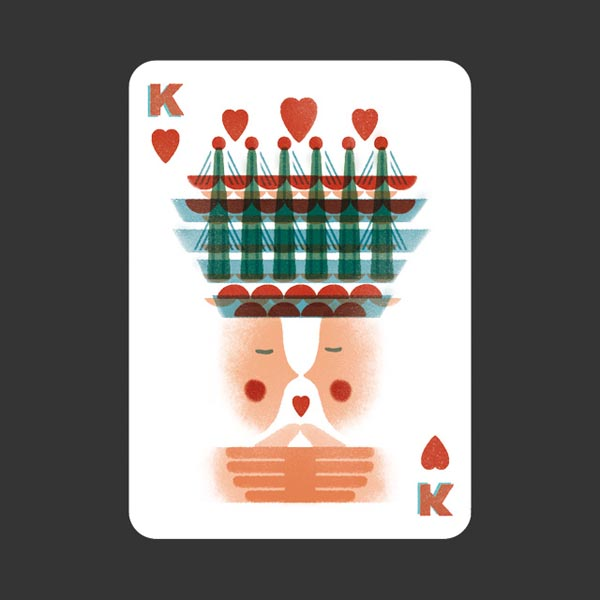 52 Aces - Illustrated Poker Set - Card