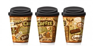 Illustrated Coffee Cups Package Design by Steve Simpson