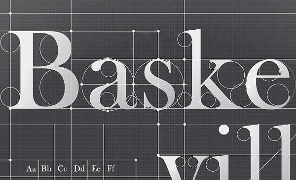 Baskerville - Typography Poster Design - Close-Up