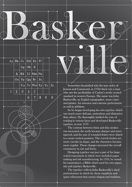 Baskerville typography poster design by koyoox Baskerville