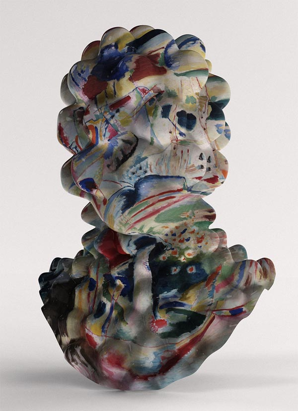 Bubbly Kandisnky - Abstract Head Sculpture by Jon Rafman