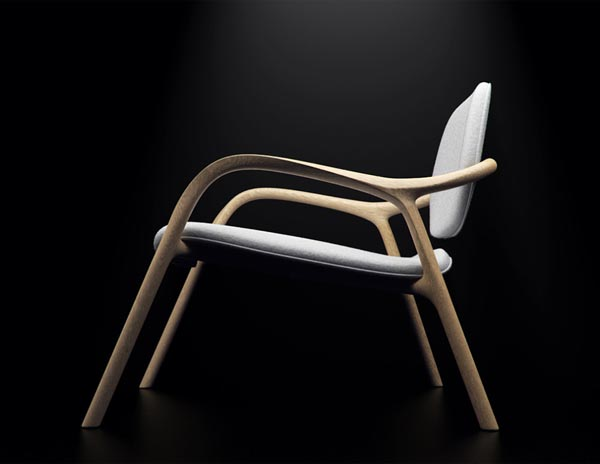 Chaise en bois wooden armchair furniture design - Chaise bois design ...