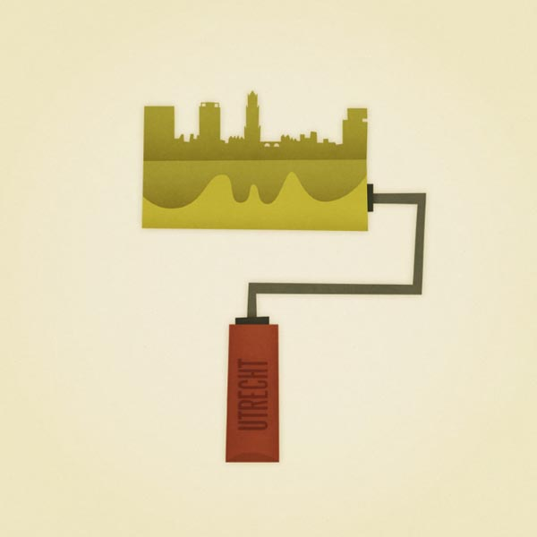 Cities as Paint Rollers - Illustration by Eva Galesloot