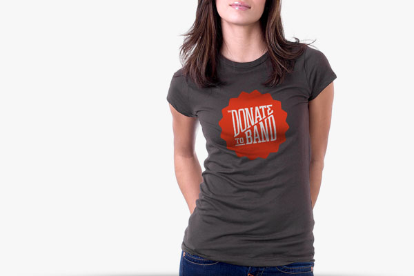 Donate to Band - T-Shirt Design by Agency Higher