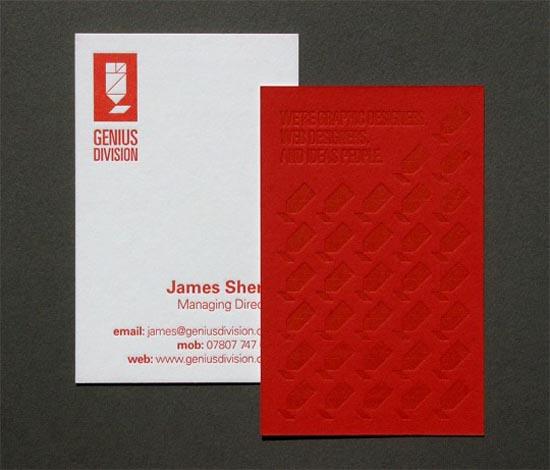 Genius Division - Business Card