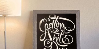 Getting Shit Done - Typographic Art Print