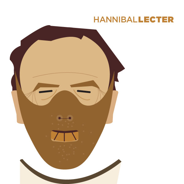 Hannibal Lecter - Portrait Illustration by Jag Nagra