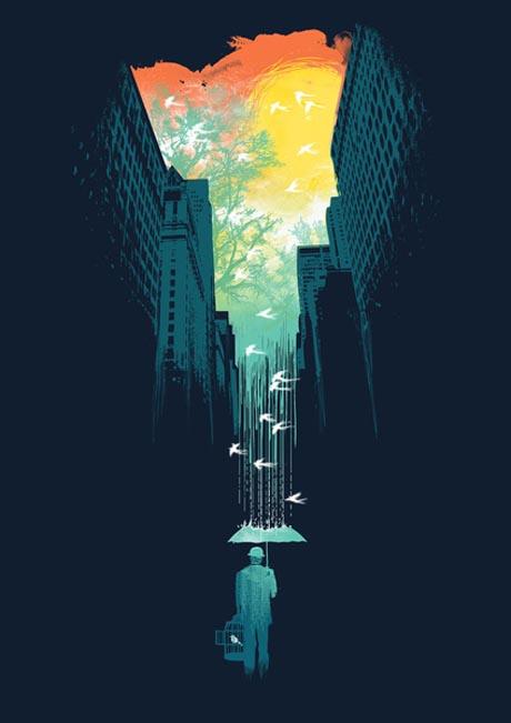 sky graphic fine drawing budi illustrator satria want threadless prints illustrators artwork kwan mexican