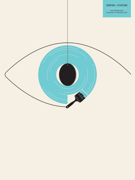 Eye Art Design : Sfmoma graphic poster series by jason munn
