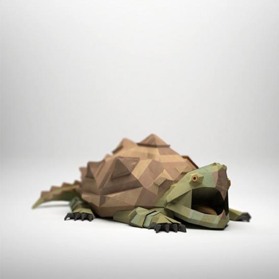 3D Paper Sculptures by Jeremy Kool
