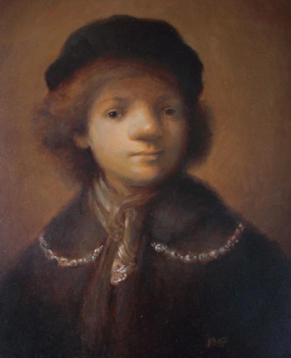 Kasia Slowianska Painting - Rembrandt Selfportrait