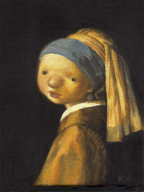 Kasia Slowianska Painting - Vermeer
