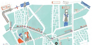 East London - Map Illustration by Maggie
