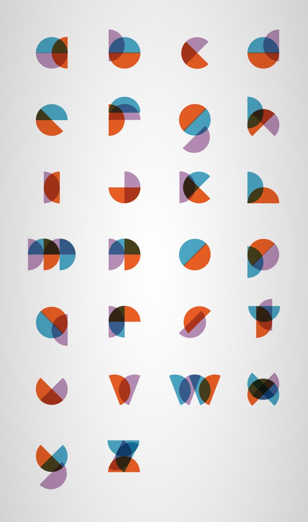 Round Minimal Type Design by Philippe Cossette