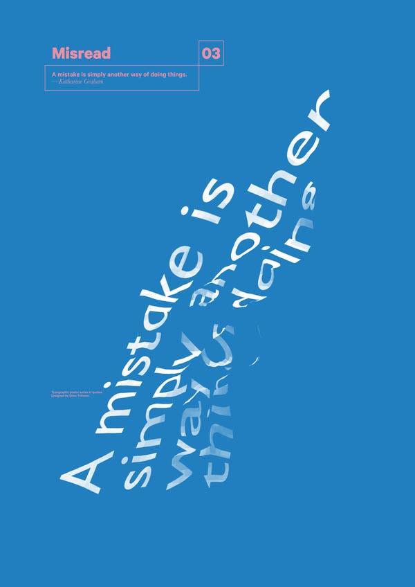 Misread - Typography Poster Series