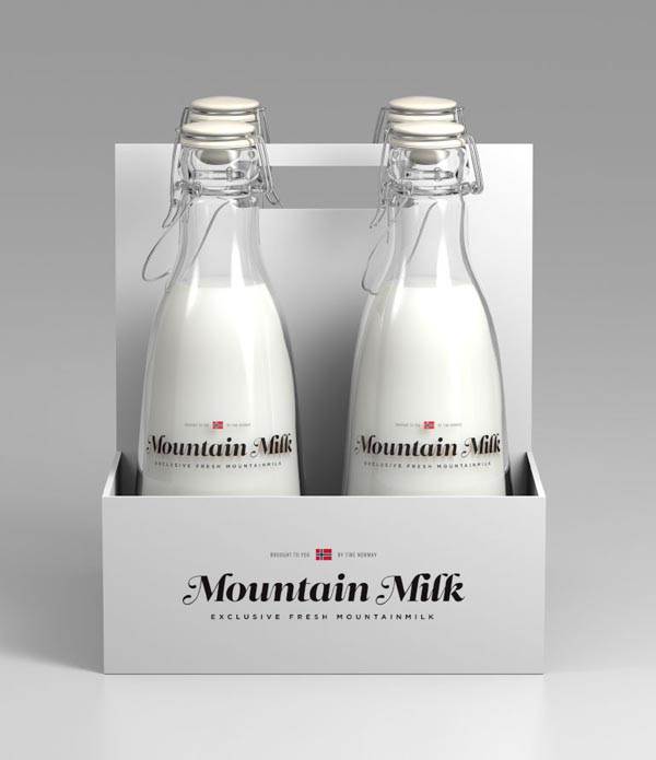 Milk Package Design Mountain Milk Package Design Mountain Milk ...: weandthecolor.com/milk-package-design-concept-anders-drage/10654