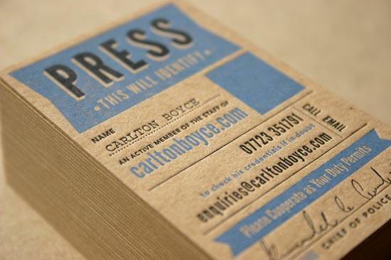 Press Pass - Business Card