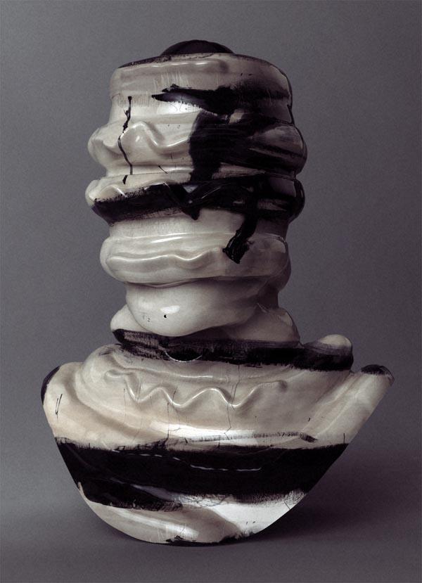 Ribbed Franz Kline - Abstract Head Sculpture by Jon Rafman