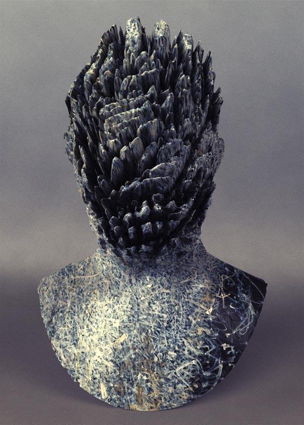 Tobey Rockyface - Abstract Head Sculpture by Jon Rafman