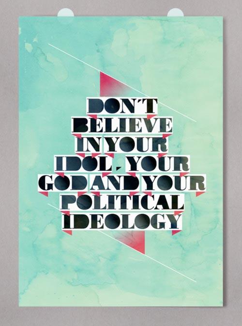 Typographic Poster Design by Alberto Carballido