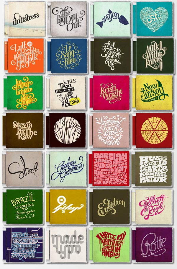 Typography CD Cover Designs by Mats Ottdal