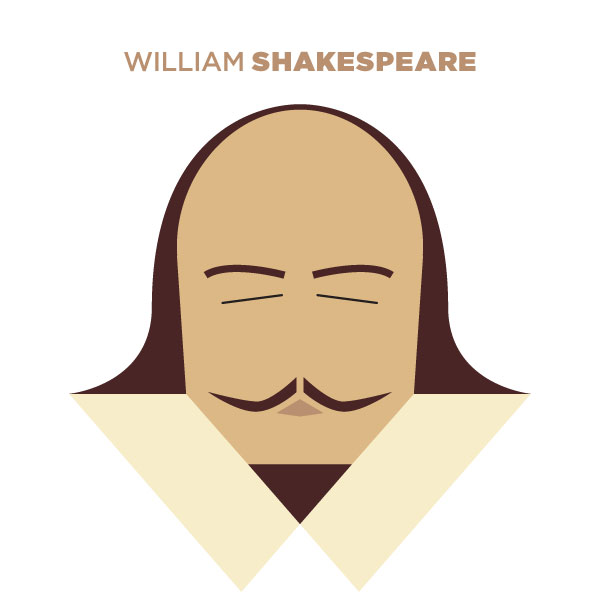 William Shakespeare - Portrait Illustration by Jag Nagra