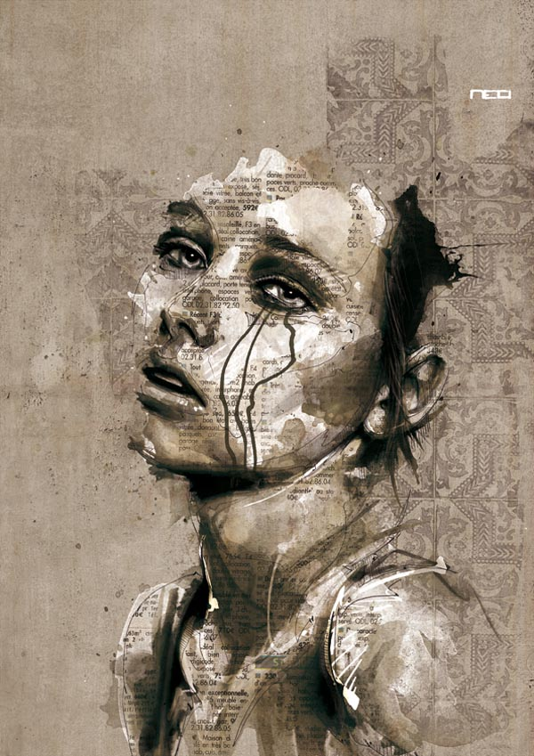 Illustrated Portraits by Florian Nicolle